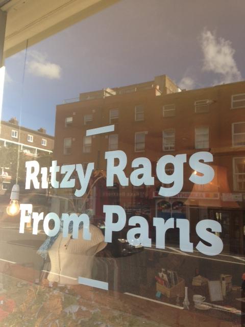 Ritzy Rags Window