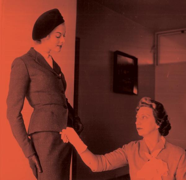Irene Gilbert fitting Aer Lingus Uniform (Pictured)_Ireland's Fashion Radicals_Little Museum of Dublin